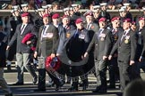Remembrance Sunday 2012 Cenotaph March Past: Group B28 - Airborne Engineers Association.. Whitehall, Cenotaph, London SW1,  United Kingdom, on 11 November 2012 at 11:59, image #995
