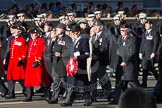 Remembrance Sunday 2012 Cenotaph March Past: Group B31 - Royal Army Service Corps & Royal Corps of Transport Association.. Whitehall, Cenotaph, London SW1,  United Kingdom, on 11 November 2012 at 11:59, image #1017