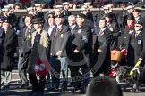 Remembrance Sunday 2012 Cenotaph March Past: Group B31 - Royal Army Service Corps & Royal Corps of Transport Association and B32 - RAOC Association.. Whitehall, Cenotaph, London SW1,  United Kingdom, on 11 November 2012 at 11:59, image #1022