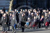 Remembrance Sunday 2012 Cenotaph March Past: Group C5 - Royal Air Force Airfield Construction Branch Association, and C6 - Women's Auxiliary Air Force.. Whitehall, Cenotaph, London SW1,  United Kingdom, on 11 November 2012 at 12:01, image #1096