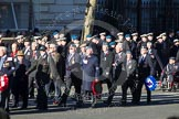 Remembrance Sunday 2012 Cenotaph March Past: Group C7 - Blenheim Society and C8 - Coastal Command & Maritime Air Association.. Whitehall, Cenotaph, London SW1,  United Kingdom, on 11 November 2012 at 12:01, image #1103