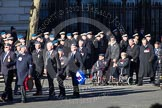 Remembrance Sunday 2012 Cenotaph March Past: Group C8 - Coastal Command & Maritime Air Association and C9 - Royal Air Forces Ex-Prisoner's of War Association.. Whitehall, Cenotaph, London SW1,  United Kingdom, on 11 November 2012 at 12:01, image #1104