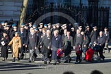 Remembrance Sunday 2012 Cenotaph March Past: Group C13 - Princess Mary's Royal Air Force Nursing Service Association and C14 - Bomber Command Association.. Whitehall, Cenotaph, London SW1,  United Kingdom, on 11 November 2012 at 12:02, image #1123