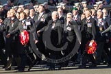 Remembrance Sunday 2012 Cenotaph March Past: Group D1 - South Atlantic Medal Association (www.sama82.org.uk), veterans of the Falklands war in 1982 and islanders from that time.. Whitehall, Cenotaph, London SW1,  United Kingdom, on 11 November 2012 at 12:04, image #1205