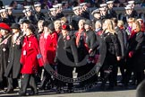 Remembrance Sunday 2012 Cenotaph March Past: Group D6 - War Widows Association.. Whitehall, Cenotaph, London SW1,  United Kingdom, on 11 November 2012 at 12:05, image #1261