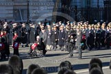 Remembrance Sunday 2012 Cenotaph March Past: Group D6 - War Widows Association and D7 - British Gurkha Welfare Society.. Whitehall, Cenotaph, London SW1,  United Kingdom, on 11 November 2012 at 12:06, image #1275