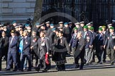 Remembrance Sunday 2012 Cenotaph March Past: Group D13 - Royal Hong Kong Regiment Association, and D14 - Hong Kong Ex-Servicemen's Association (UK Branch).. Whitehall, Cenotaph, London SW1,  United Kingdom, on 11 November 2012 at 12:07, image #1325