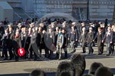 Remembrance Sunday 2012 Cenotaph March Past: Group D17 - The Royal British Legion and D18 - The Royal British Legion Scotland.. Whitehall, Cenotaph, London SW1,  United Kingdom, on 11 November 2012 at 12:07, image #1369