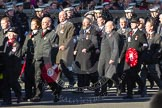 Remembrance Sunday 2012 Cenotaph March Past: Group M16 - St John Ambulance, M17 - St Andrew's Ambulance Association, and M18 - Firefighters Memorial Charitable Trust.. Whitehall, Cenotaph, London SW1,  United Kingdom, on 11 November 2012 at 12:11, image #1539
