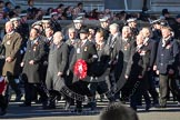 Remembrance Sunday 2012 Cenotaph March Past: Group M16 - St John Ambulance, M17 - St Andrew's Ambulance Association, and M18 - Firefighters Memorial Charitable Trust.. Whitehall, Cenotaph, London SW1,  United Kingdom, on 11 November 2012 at 12:11, image #1540