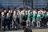 Remembrance Sunday 2012 Cenotaph March Past: Group M18 - Firefighters Memorial Charitable Trust, and M19 - Royal Ulster Constabulary (GC) Association.. Whitehall, Cenotaph, London SW1,  United Kingdom, on 11 November 2012 at 12:11, image #1544