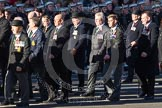 Remembrance Sunday 2012 Cenotaph March Past: Group M20 - Ulster Special Constabulary Association and M21 - Commonwealth War Graves Commission.. Whitehall, Cenotaph, London SW1,  United Kingdom, on 11 November 2012 at 12:12, image #1561