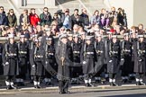 10:22am - the detachment of the Royal Navy in position northeast of the Cenotaph.