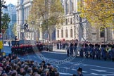 Following the Massed Bands of the Guards Divisions - a detachment from the Blues and Royals (Household Cavalry) and Royal Horse Artillery, and another of the Massed Bands.