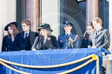 Guests on one of the balconies of the Foreign- and Commonwealth Office building.