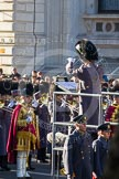 The Senior Director of Music, Lieutenant Colonel Stephen Barnwell, conducting the Massed Bands of the Guards.