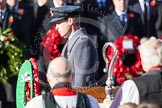 HRH The Duke od Cambridge about to lay his wreath at the Cenotaph. In the foreground, and out of focus, the Bishop of London.