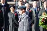 HRH The Duke of Cambridge saluting after having laid his wreath at the Cenotaph.