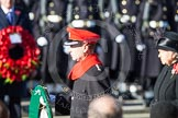 HRH The Earl of Wessex about to lay his wreath at the Cenotaph. Behind him HM The Queen.