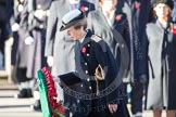 HRH The Princess Royal about to lay her wreath at the Cenotaph.