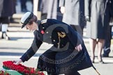 HRH The Princess Royal is laying her wreath at the Cenotaph.