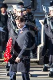 Nick Clegg, as Leader of the Liberal Democrat Party, is laying a wreath at the Cenotaph.