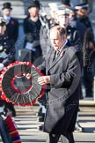 Elfyn Llywd as Westminster Plaid Cymru Group Leader, about to lay a wreath at the Cenotaph.