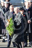 The Foreign Secretary, William Hague, about to lay a wreath at the Cenotaph.