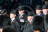 Remembrance Sunday Cenotaph March Past 2013: Trustees of the Royal British Legion leading the March Past.. Press stand opposite the Foreign Office building, Whitehall, London SW1, London, Greater London, United Kingdom, on 10 November 2013 at 11:38, image #13
