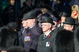Remembrance Sunday Cenotaph March Past 2013: Trustees of the Royal British Legion leading the March Past.. Press stand opposite the Foreign Office building, Whitehall, London SW1, London, Greater London, United Kingdom, on 10 November 2013 at 11:38, image #14