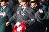 Remembrance Sunday Cenotaph March Past 2013: D2 - British Gurkha Welfare Association.. Press stand opposite the Foreign Office building, Whitehall, London SW1, London, Greater London, United Kingdom, on 10 November 2013 at 11:38, image #34