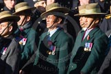 Remembrance Sunday Cenotaph March Past 2013: D2 - British Gurkha Welfare Association.. Press stand opposite the Foreign Office building, Whitehall, London SW1, London, Greater London, United Kingdom, on 10 November 2013 at 11:38, image #35