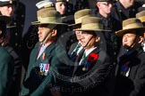Remembrance Sunday Cenotaph March Past 2013: D2 - British Gurkha Welfare Association.. Press stand opposite the Foreign Office building, Whitehall, London SW1, London, Greater London, United Kingdom, on 10 November 2013 at 11:38, image #36