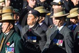 Remembrance Sunday Cenotaph March Past 2013: D2 - British Gurkha Welfare Association.. Press stand opposite the Foreign Office building, Whitehall, London SW1, London, Greater London, United Kingdom, on 10 November 2013 at 11:38, image #38