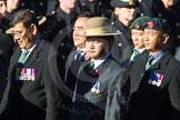 Remembrance Sunday Cenotaph March Past 2013: D2 - British Gurkha Welfare Association.. Press stand opposite the Foreign Office building, Whitehall, London SW1, London, Greater London, United Kingdom, on 10 November 2013 at 11:38, image #39