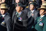 Remembrance Sunday Cenotaph March Past 2013: D2 - British Gurkha Welfare Association.. Press stand opposite the Foreign Office building, Whitehall, London SW1, London, Greater London, United Kingdom, on 10 November 2013 at 11:38, image #40