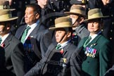 Remembrance Sunday Cenotaph March Past 2013: D2 - British Gurkha Welfare Association.. Press stand opposite the Foreign Office building, Whitehall, London SW1, London, Greater London, United Kingdom, on 10 November 2013 at 11:38, image #42