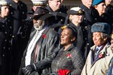 Remembrance Sunday Cenotaph March Past 2013: D3 - West Indian Association of Service Personnel.. Press stand opposite the Foreign Office building, Whitehall, London SW1, London, Greater London, United Kingdom, on 10 November 2013 at 11:39, image #46