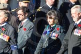 Remembrance Sunday Cenotaph March Past 2013: D7 - Canadian Veterans Association.. Press stand opposite the Foreign Office building, Whitehall, London SW1, London, Greater London, United Kingdom, on 10 November 2013 at 11:39, image #73