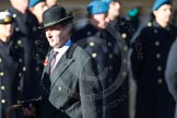 Remembrance Sunday Cenotaph March Past 2013: D34 - Walking With The Wounded. Here Fergus Williams, Director of Operations WWTW.. Press stand opposite the Foreign Office building, Whitehall, London SW1, London, Greater London, United Kingdom, on 10 November 2013 at 11:44, image #315