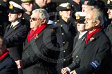 Remembrance Sunday Cenotaph March Past 2013: E1 - Merchant Navy Association.. Press stand opposite the Foreign Office building, Whitehall, London SW1, London, Greater London, United Kingdom, on 10 November 2013 at 11:44, image #322