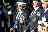 Remembrance Sunday Cenotaph March Past 2013: E23 - HMS St Vincent Association.. Press stand opposite the Foreign Office building, Whitehall, London SW1, London, Greater London, United Kingdom, on 10 November 2013 at 11:47, image #523