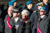Remembrance Sunday Cenotaph March Past 2013: F7 - Gallantry Medallists League.. Press stand opposite the Foreign Office building, Whitehall, London SW1, London, Greater London, United Kingdom, on 10 November 2013 at 11:51, image #805