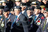 Remembrance Sunday Cenotaph March Past 2013: F15 - Suez Veterans Association.. Press stand opposite the Foreign Office building, Whitehall, London SW1, London, Greater London, United Kingdom, on 10 November 2013 at 11:52, image #873