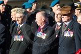 Remembrance Sunday Cenotaph March Past 2013: F19 - Queen's Bodyguard of The Yeoman of The Guard.. Press stand opposite the Foreign Office building, Whitehall, London SW1, London, Greater London, United Kingdom, on 10 November 2013 at 11:53, image #943