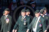 Remembrance Sunday Cenotaph March Past 2013: A16 - Royal Green Jackets Association.. Press stand opposite the Foreign Office building, Whitehall, London SW1, London, Greater London, United Kingdom, on 10 November 2013 at 11:56, image #1126