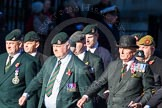Remembrance Sunday Cenotaph March Past 2013: A16 - Royal Green Jackets Association.. Press stand opposite the Foreign Office building, Whitehall, London SW1, London, Greater London, United Kingdom, on 10 November 2013 at 11:56, image #1127