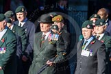 Remembrance Sunday Cenotaph March Past 2013: A16 - Royal Green Jackets Association.. Press stand opposite the Foreign Office building, Whitehall, London SW1, London, Greater London, United Kingdom, on 10 November 2013 at 11:56, image #1128