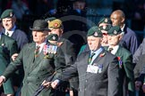 Remembrance Sunday Cenotaph March Past 2013: A16 - Royal Green Jackets Association.. Press stand opposite the Foreign Office building, Whitehall, London SW1, London, Greater London, United Kingdom, on 10 November 2013 at 11:56, image #1129