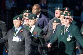 Remembrance Sunday Cenotaph March Past 2013: A16 - Royal Green Jackets Association.. Press stand opposite the Foreign Office building, Whitehall, London SW1, London, Greater London, United Kingdom, on 10 November 2013 at 11:56, image #1130